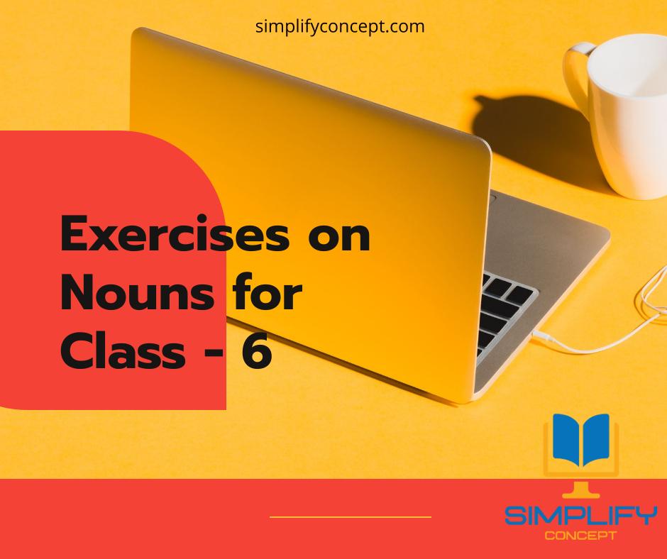 Exercises on Nouns for Class 6 (Miscellaneous Exercises), simplifyconcept.com